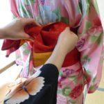 Kimono Obi binden
